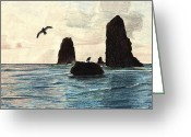 Rocks Prints Mixed Media Greeting Cards - The Needles Greeting Card by Wendy McKennon