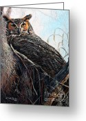 Woods Pastels Greeting Cards - The Nest Greeting Card by Deb LaFogg-Docherty
