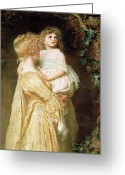 The Nest Painting Greeting Cards - The Nest Greeting Card by Sir John Everett Millais