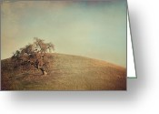 Oak Tree Greeting Cards - The Neverending Loneliness Greeting Card by Laurie Search