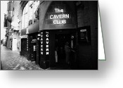 Mathew Greeting Cards - The New Cavern Club In Mathew Street In Liverpool City Centre Birthplace Of The Beatles Merseyside Greeting Card by Joe Fox