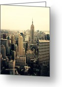 Nyc Cityscape Greeting Cards - The New York City Skyline Greeting Card by Vivienne Gucwa