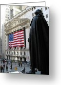 Hall Greeting Cards - The New York Stock Exchange Greeting Card by RicardMN Photography