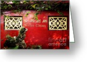 Red Building Greeting Cards - The Nicest WC You Will Ever See Greeting Card by Joan Carroll