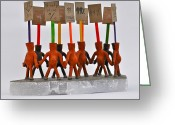 99 Percent Sculpture Greeting Cards - The Ninety-Nine Percent Greeting Card by Jacqueline Cappadora
