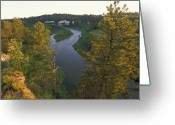 Valentine Greeting Cards - The Niobrara River At Sunrise Greeting Card by Joel Sartore