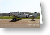 Texan Greeting Cards - The North American T6 Texan Military Aircraft . 7d15782 Greeting Card by Wingsdomain Art and Photography