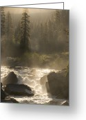 Time Exposures Greeting Cards - The North Fork Of The Stanislaus River Greeting Card by Phil Schermeister