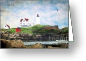 Neddick Greeting Cards - The Nubble Greeting Card by Darren Fisher