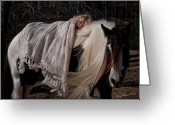 Storybook Greeting Cards - The Nurturing Mare Greeting Card by Terry Kirkland Cook