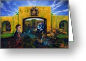 Surreal Art Painting Greeting Cards - The Oath Greeting Card by Kd Neeley