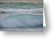 Surf Silhouette Greeting Cards - The Oceans Rhythm   Greeting Card by E Luiza Picciano
