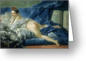 Crumpled Sheets Greeting Cards - The Odalisque Greeting Card by Francois Boucher