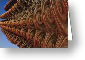 Lyle Hatch Greeting Cards - The Odd Beauty of Fractals Greeting Card by Lyle Hatch