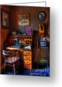 Historic Furniture Greeting Cards - The Office Greeting Card by Bob Christopher