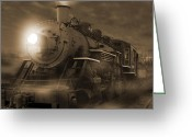 Rail Road Greeting Cards - The Old 210 Greeting Card by Mike McGlothlen