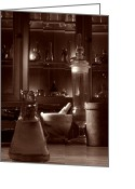 Discovery Photo Greeting Cards - The Old Apothecary Shop Greeting Card by Olivier Le Queinec