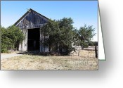 Dilapidated Greeting Cards - The Old Barn - 5D19194 Greeting Card by Wingsdomain Art and Photography