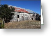 Dilapidated Greeting Cards - The Old Barn - 5D19196 Greeting Card by Wingsdomain Art and Photography