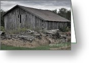 Old Farms Greeting Cards - The Old Barn Greeting Card by Reb Frost