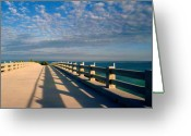 Turquois Greeting Cards - The old bridge Greeting Card by Susanne Van Hulst