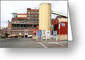 Factories Greeting Cards - The Old California and Hawaii Pure Cane Sugar Company in Crockett California Greeting Card by Wingsdomain Art and Photography