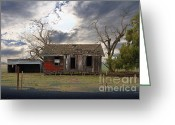 Old Farms Greeting Cards - The Old Farm House In My Dreams Greeting Card by Wingsdomain Art and Photography
