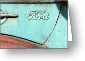 Ford Truck Greeting Cards - The Old Ford Jalopy . Nostalgia In Abstract . 7D12892 Greeting Card by Wingsdomain Art and Photography