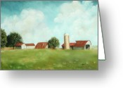 Summer On The Farm Greeting Cards - The Old Homestead Greeting Card by Peg Whitacre