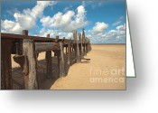 Hare Greeting Cards - The Old Jetty Greeting Card by John D Hare
