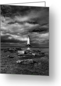 Talacre Digital Art Greeting Cards - The Old Lighthouse  Greeting Card by Adrian Evans