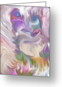 Gina Digital Art Greeting Cards - The Old Man Abstract Greeting Card by Gina Manley