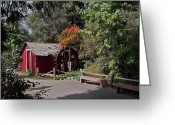 Sheds Greeting Cards - The Old Mill 1 Greeting Card by Ernie Echols