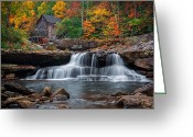 Glade Mill Greeting Cards - The old Mill  Greeting Card by Emmanuel Panagiotakis