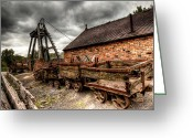 Coalfield Greeting Cards - The Old Mine Greeting Card by Adrian Evans