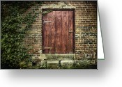 Rural Decay  Digital Art Greeting Cards - The Old Red Door Greeting Card by Sari Sauls