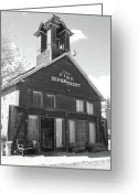 Old San Juan Greeting Cards - The Old Ridgway Firehouse Greeting Card by Eric Glaser