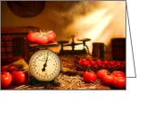 Wicker Greeting Cards - The Old Tomato Farm Stand Greeting Card by Olivier Le Queinec
