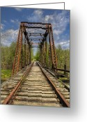 Freight Greeting Cards - The Old Trestle Greeting Card by Debra and Dave Vanderlaan