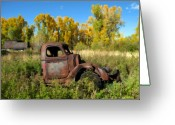 Antique Truck Greeting Cards - The old truck  Chama New Mexico Greeting Card by Kurt Van Wagner