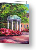 Carolina Painting Greeting Cards - The Old Well UNC Greeting Card by Jeff Pittman