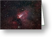 H Ii Regions Greeting Cards - The Omega Nebula Greeting Card by Filipe Alves