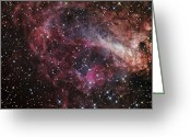 H Ii Regions Greeting Cards - The Omega Nebula Greeting Card by R Jay GaBany