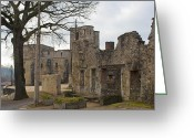 Dilapidated Greeting Cards - The once grand town of Oradour Greeting Card by Georgia Fowler