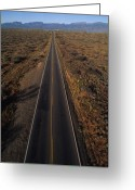 Scrub Greeting Cards - The Open Road Near Sedona Arizona Greeting Card by Bill Hatcher