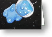 Sky Painting Greeting Cards - The Original Gummy Bear In Space Greeting Card by Jera Sky
