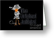 County Jail Greeting Cards - The original  jailbird Greeting Card by S Desiata