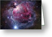 Interstellar Clouds Photo Greeting Cards - The Orion Nebula Greeting Card by Robert Gendler