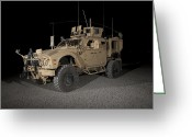 Military Vehicle Greeting Cards - The Oshkosh M-atv Greeting Card by Terry Moore