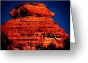 Geologic Formations Greeting Cards - The Outlook Greeting Card by Helen Carson